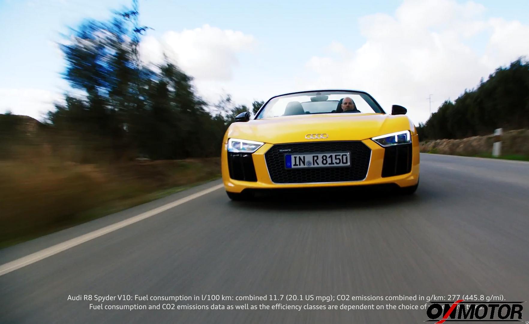 Audi R8 Spyder 2016, Footage