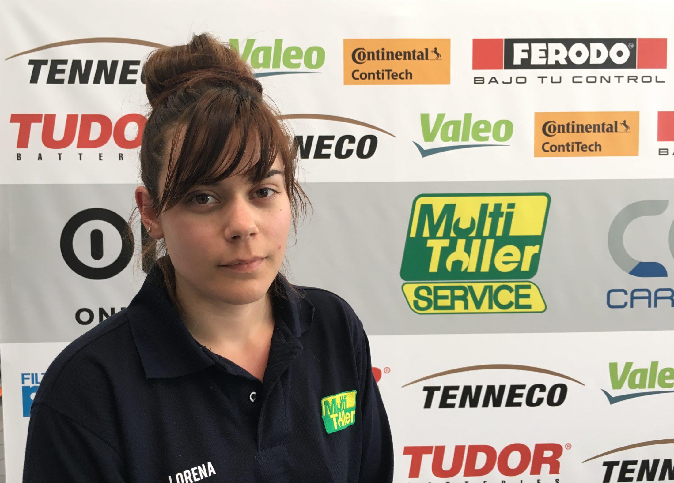Lorena sueña con ser mecánica de Fórmula 1