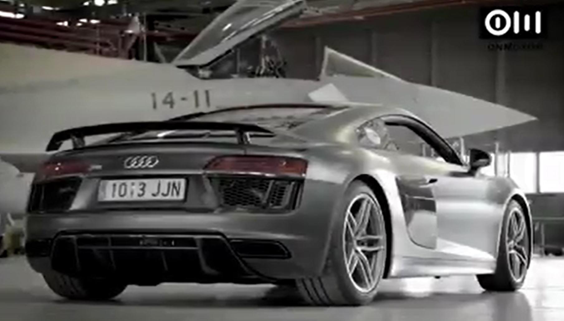 Audi R8 Plus vs Eurofighter