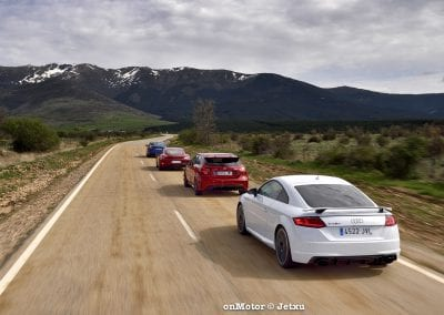 audi tt rs vs porsche cayman s 718 vs mb a-45 amg vs bmw m240i-30