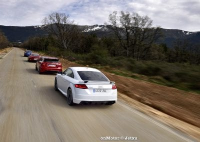 audi tt rs vs porsche cayman s 718 vs mb a-45 amg vs bmw m240i-31