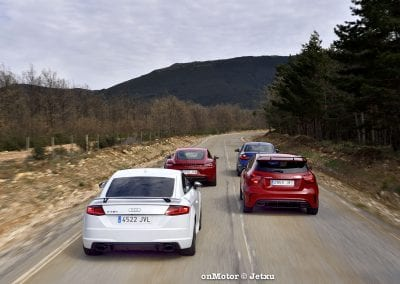 audi tt rs vs porsche cayman s 718 vs mb a-45 amg vs bmw m240i-32