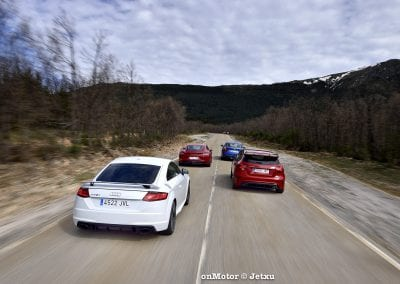audi tt rs vs porsche cayman s 718 vs mb a-45 amg vs bmw m240i-34