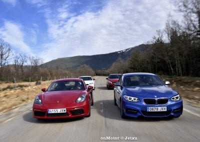 audi tt rs vs porsche cayman s 718 vs mb a-45 amg vs bmw m240i-46