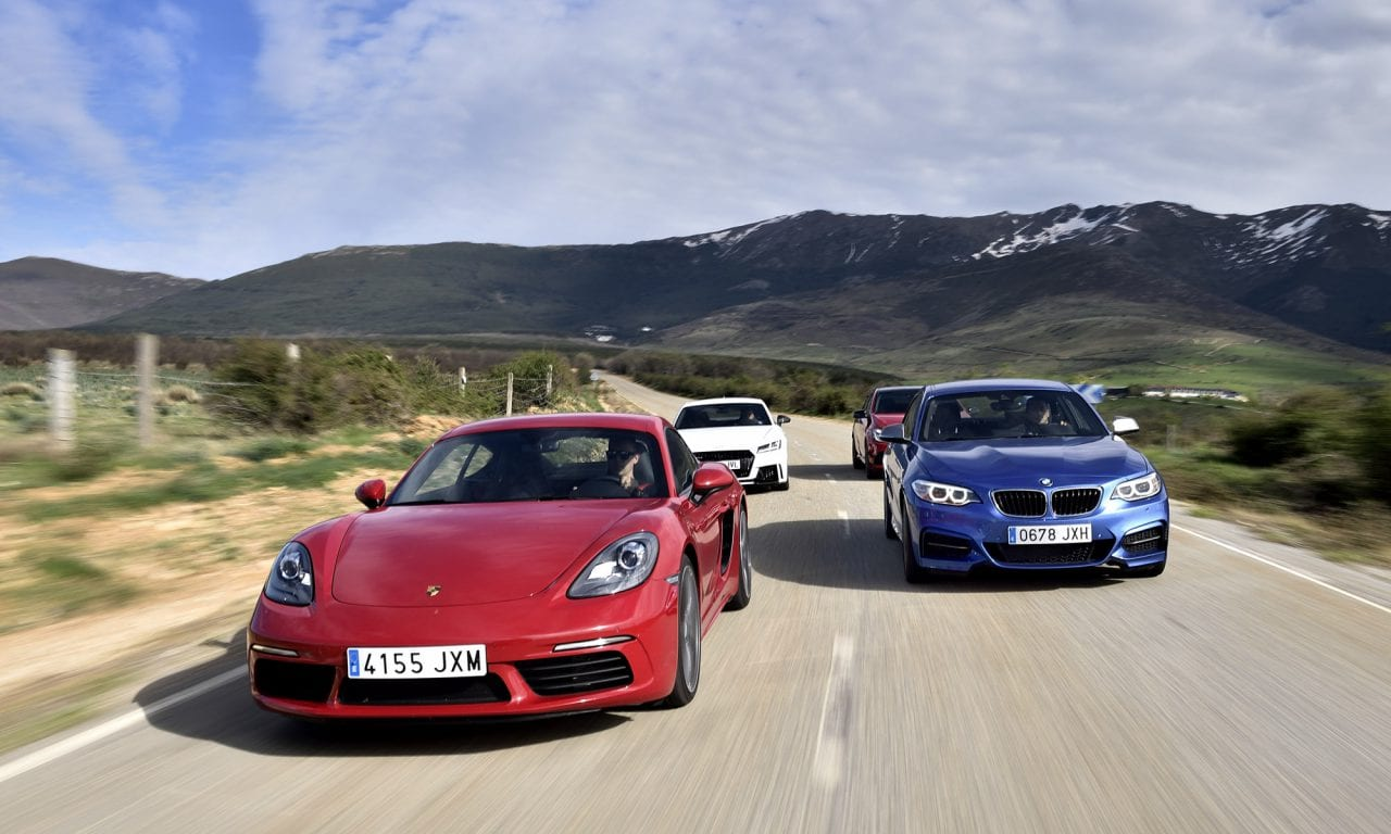 AUDI TT RS vs MERCEDES-BENZ A-45 AMG vs PORSCHE CAYMAN S 718 vs BMW M240i