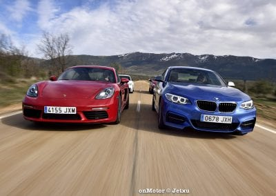 audi tt rs vs porsche cayman s 718 vs mb a-45 amg vs bmw m240i-49