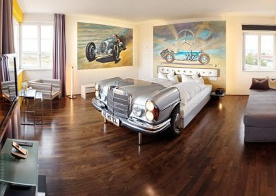 V8Hotel - the Mercedes Suite - pure exclusivity in the former airport tower in the MOTORWORLD Region Stuttgart