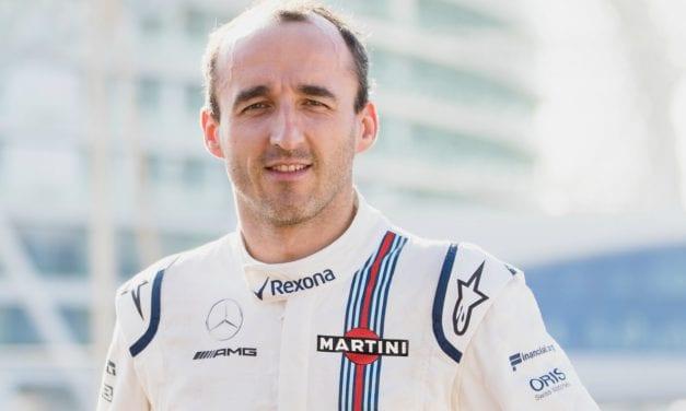 Williams anuncia a Robert Kubica como tercer piloto para la temporada 2018
