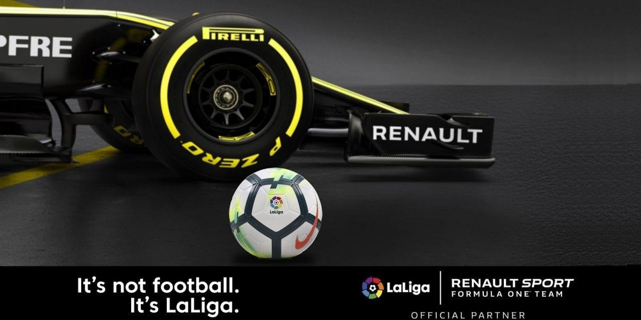 El equipo Renault Sport Formula One Team y LaLiga anuncian un acuerdo de colaboración
