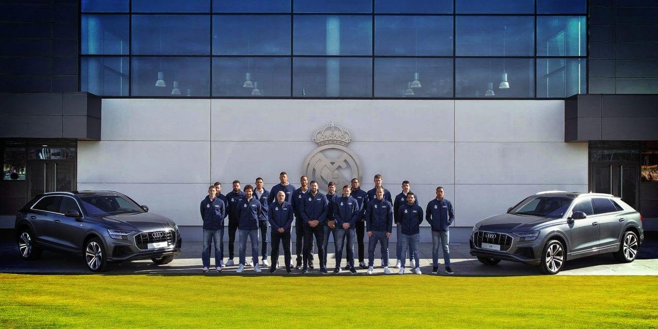 Los jugadores del Real Madrid prueban el nuevo Audi Q8