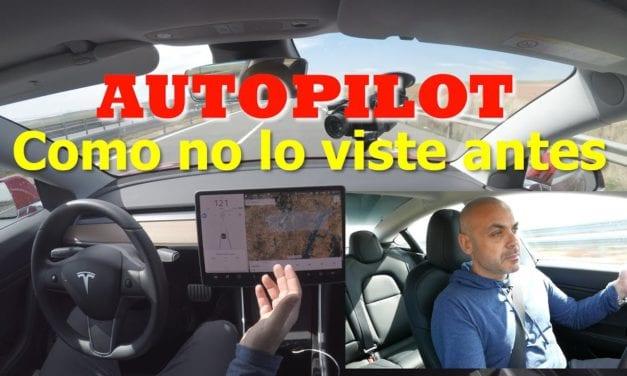 CONDUCCIÓN REAL con el Autopilot de TESLA