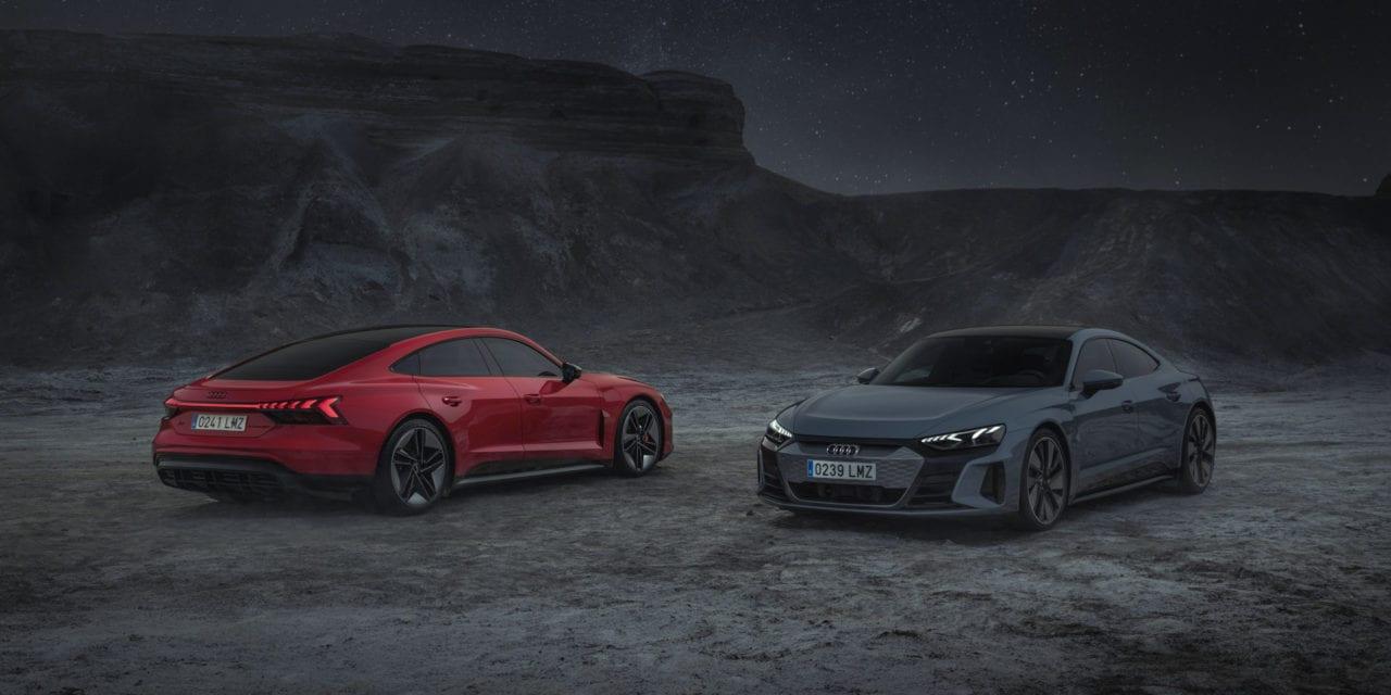 LA BELLEZA Y LA POTENCIA DEL AUDI E-TRON GT Y RS GT EN IMAGENES